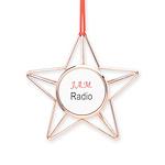 JAM Radio Copper Star Ornament