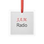 JAM Radio Square Glass Ornament