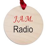 JAM Radio Maple Round Ornament