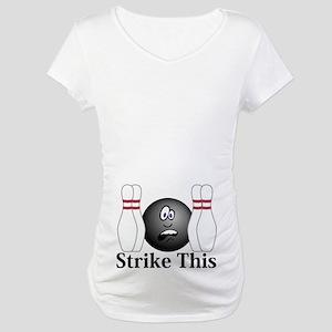 Strike This Logo 4 Maternity T-Shirt Design on Bel