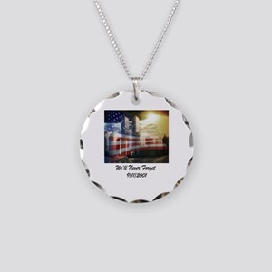 We'll Never Forget Necklace Circle Charm