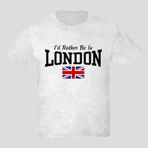 I'd Rather Be In London Kids Light T-Shirt