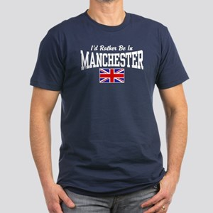 I'd Rather Be In Manchester Men's Fitted T-Shirt (