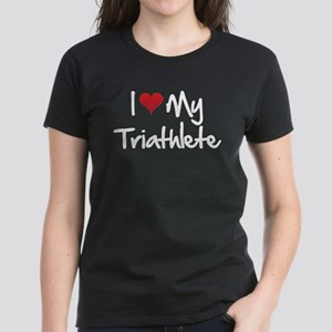 I heart my triathlete Women's Dark T-Shirt