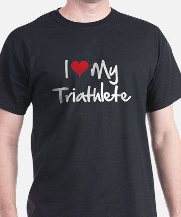 I heart my triathlete T-Shirt