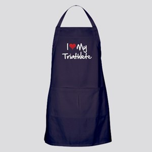 I heart my triathlete Apron (dark)