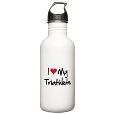 I heart my triathlete Stainless Water Bottle 1.0L