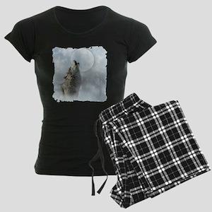 Wolf Blue Moon Women's Dark Pajamas