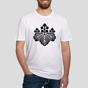 Kimono Design Kamon Paulownia Fitted T-Shirt