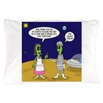 Alien Shopping Pillow Case