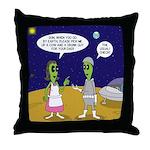 Alien Shopping Throw Pillow
