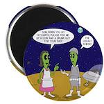 Alien Shopping Round Magnet