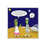 Alien Shopping Square Sticker 3
