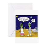 Alien Shopping Greeting Cards (Pk of 20)