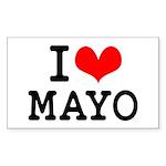 I Love Mayo Sticker (Rectangle 10 pk)