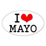 I Love Mayo Sticker (Oval)