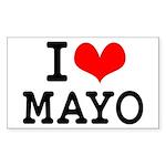 I Love Mayo Sticker (Rectangle)