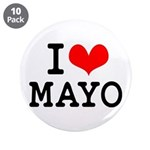 """I Love Mayo 3.5"""" Button (10 pack)"""