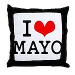 I Love Mayo Throw Pillow