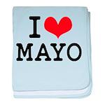 I Love Mayo baby blanket