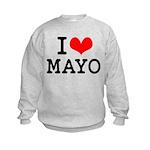 I Love Mayo Kids Sweatshirt
