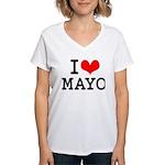 I Love Mayo Women's V-Neck T-Shirt
