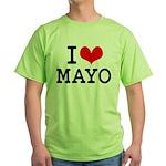 I Love Mayo Green T-Shirt