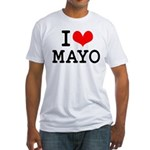 I Love Mayo Fitted T-Shirt