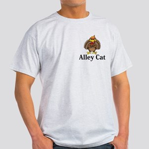 Alley Cat Logo 13 Light T-Shirt Design Front Pocke