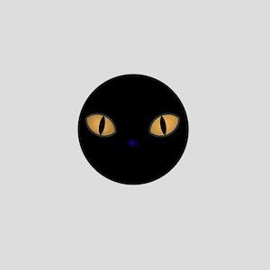 Golden Eye Kitten Mini Button