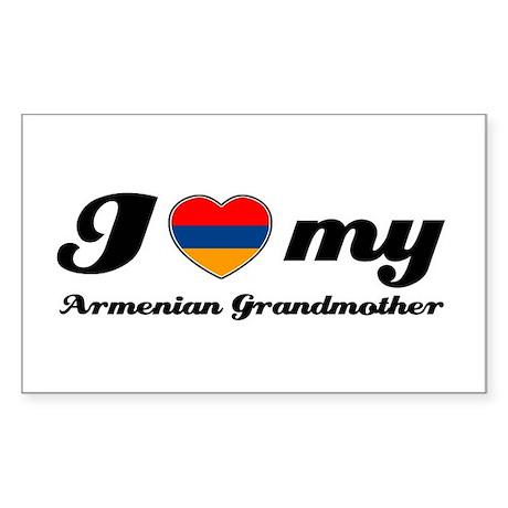 I love My Armenian Grandmother Sticker (Rectangle)