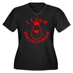 I Love Mayonnaise Women's Plus Size V-Neck Dark T-