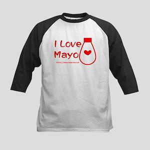 I Love Mayo Kids Baseball Jersey