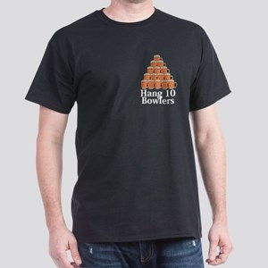 Hang 10 Bowlers Logo 7 Dark T-Shirt Design Front P