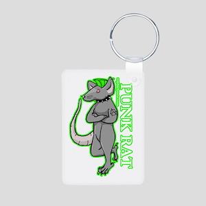 Punk Rat Aluminum Photo Keychain