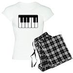 Women's Piano Keyboard Plaid Pajamas