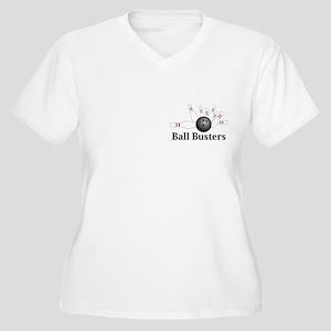 Ball Busters Logo 2 Women's Plus Size V-Neck T-Shi