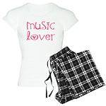 Cute Music Lover Women's Pink Pajamas