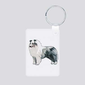 Sheltie Aluminum Photo Keychain