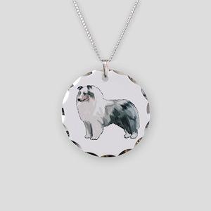 Sheltie Necklace Circle Charm