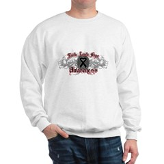 Melanoma Faith Hope Sweatshirt