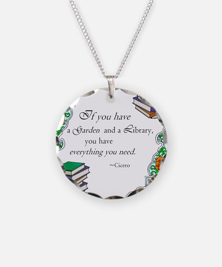 Cicero quote Necklace Circle Charm
