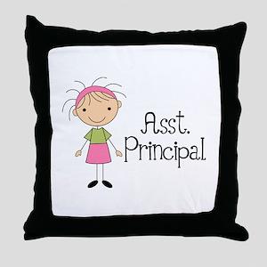 Cute Assistant Principal Throw Pillow