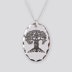 The Reading Tree Necklace Oval Charm