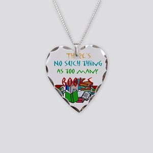 No such thing as too many boo Necklace Heart Charm