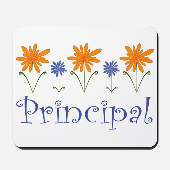 Principal Gift Flowered Mousepad
