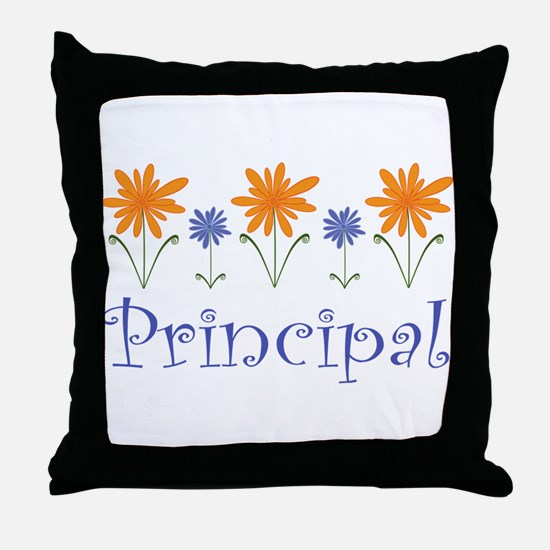 Principal Gift Flowered Throw Pillow