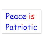 Peace is Patriotic Rectangle Sticker