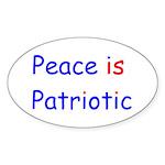 Peace is Patriotic Oval Sticker