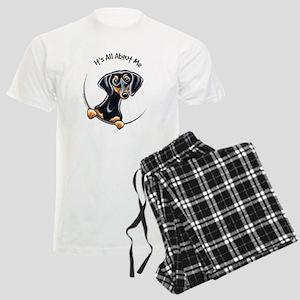 Black Tan Dachshund Men's Light Pajamas